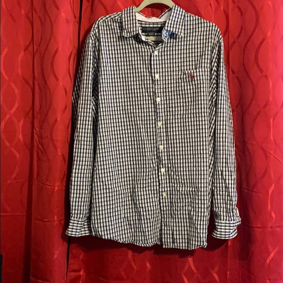 US Polo Assn Mens Large $55 Plaid Button Down Long Sleeve Shirt Choose Size